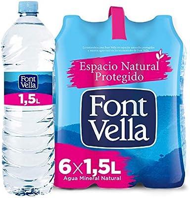 Font Vella Agua Mineral Natural - Pack 6 x 1,5L: Amazon.es ...