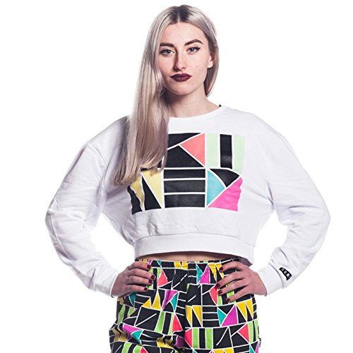 Grimey Sudadera Chica The Cotton Mouth Crewneck SS16 White: Amazon.es: Ropa y accesorios