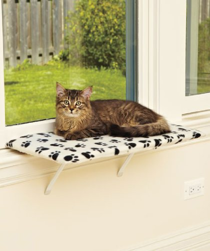 24u0026quot; Fleece Lazy PET Kitty Cat Window Perch Seat Bed Bench