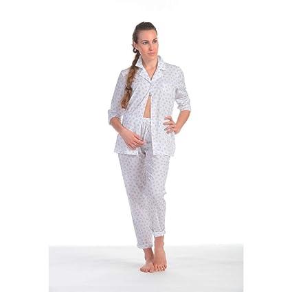 Pijama de mujer verano abierto con cuello y bolsillo Lilla 60