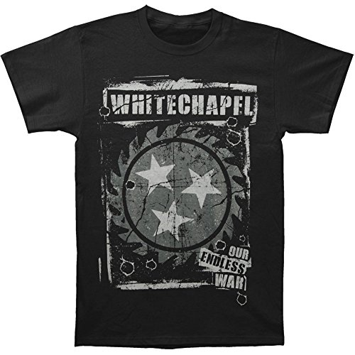 Whitechapel Men's Backfire T-shirt Medium Black