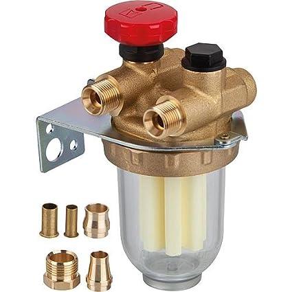 "Oventrop - Filtro gasoil - Dos tuberias con llave de paso FF1/2"" tamiz"