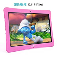 """BIG PROMOTION! Free Tempered Glass Screen Protector! Please Add both in cart n check it out together. Or it won't apply!BENEVE 10.1"""" KIDS TABLET IS The most affordable, portable and powerful 10 inch tablet.WATCH IN 1080P FULL HD, 1920*1200 IP..."""