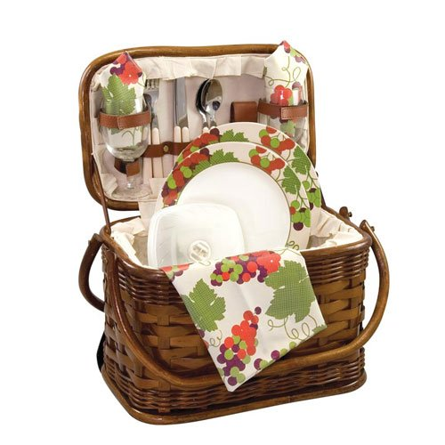 Picnic Time Romance Picnic Basket with Deluxe Service for Two by PICNIC TIME