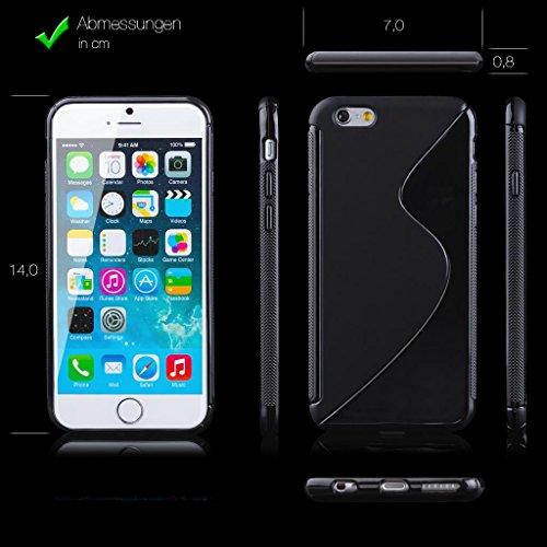Samsung Galaxy Alpha | iCues S-Line Caso Negro Negro | protección [protector de pantalla, incluyendo] caso de la piel del gel de silicona Cubierta Cubierta Funda Carcasa Bolsa Cover Case