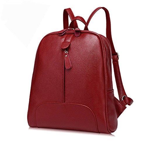 à Bandoulière Sacs Filles Red école à à En Cuir Sac Sac Convertible Simple Dos Pour BAILIANG Style Main Les D'école Sacs Yn4aa