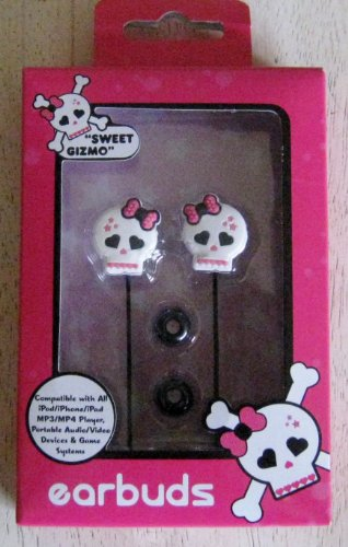 Sweet Gizmo SKL 1000 JCP Skull Earbuds product image