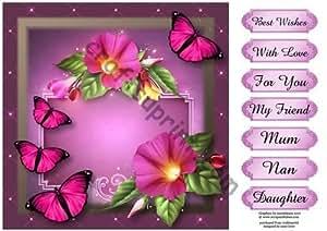 Bonito diseño de kayleigh walls y rosa diseño de mariposas por Anne palanca