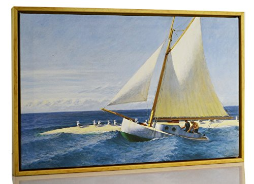 Berkin Arts Framed Edward Hopper Giclee Canvas Print Paintings Poster Reproduction Fine Art Home Decor (The Martha McKeen Wellfleet) (Framed Art Hopper)