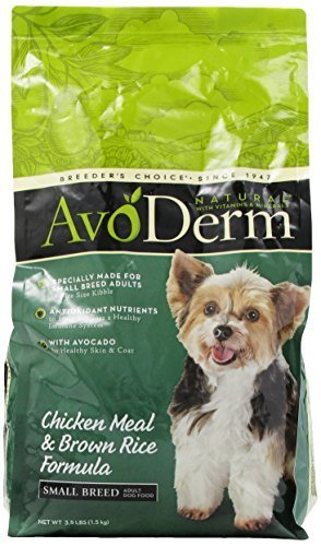 AvoDerm Natural Chicken Meal and Brown Rice Formula Small Breed Adult Dog Food, 3.5-Pound by (Avoderm Natural Chicken Meal)