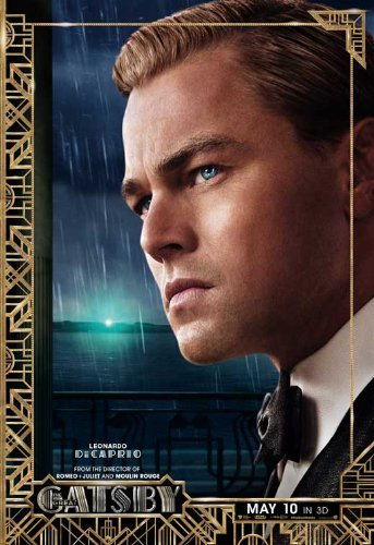 The Great Gatsby 2013 Movie Poster Leonardo DiCaprio, Joel Edgerton, Tobey Maguire, Style H