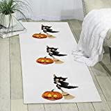 GDBADY The Black Cats Pumpkin Domestic Sitting Room Bedroom Domestic Carpet