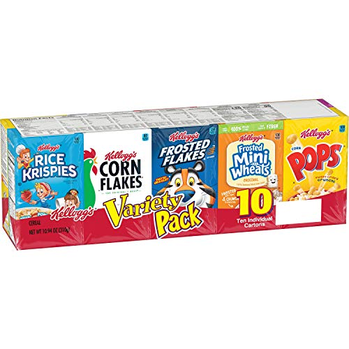 Kellogg's Corn Flakes Special K Assorted Variety Pack, 10 ct
