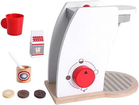 Madera Cafetera Set Juego accesorios de cocina para niños pequeños ...