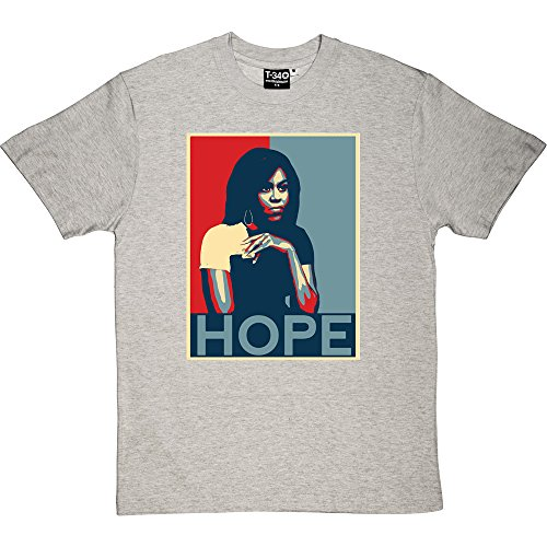 Obama Ash Grey T-shirt - T34 Michelle Obama: Hope Melange Grey/Ash Men's T-Shirts Small