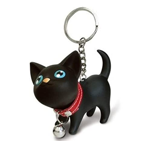 Amazon.com: Nikgic Key Chain Keychain kitten Bell Key Rings ...