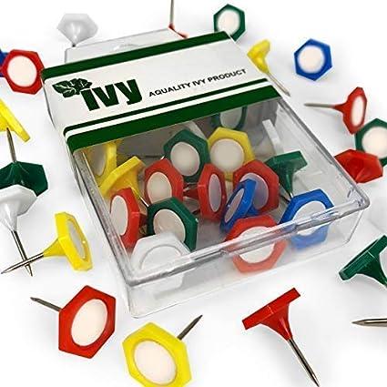 Ivy Indicador Map Pins - Pack de 20 - Varios Colores - PIN020IP: Amazon.es: Oficina y papelería