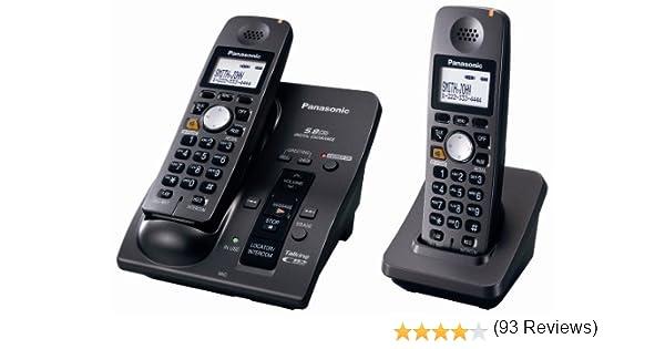 Panasonic KX-TG6052B 5.8 GHz FHSS ampliable Digital sistema de teléfono inalámbrico con 2 terminales: Amazon.es: Electrónica