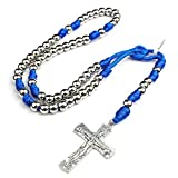 HanlinCC 10mm Steel Plated Beads with Blue Color