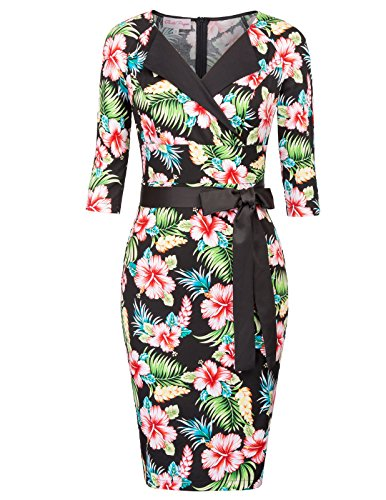 50s belted dress - 9