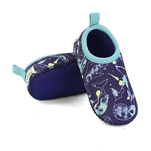 Minnow Designs Toddler Water Shoes - Original Swim Aqua Socks with Soft Non Slip Sole for Kids - Snug Fit Protective Beach Shoes for Boys and Girls - 6, ()