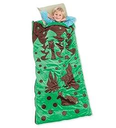 Woodland Wonder Sleeping Bag, in Green