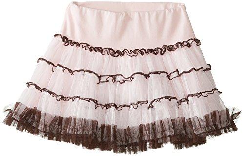 Kate Mack Little Girls' Shoe Candy Netting Skirt, Brown/Pink, 5