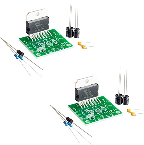Comimark 2Pcs DC 12V TDA7297 Amplifier Board 15W 15W Dual-Channel Track Stereo Module Kit DIY