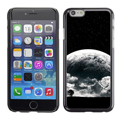 SuperStar // Refroidir image Étui rigide PC Housse de protection Hard Case Protective Cover for Apple Iphone 6 Plus 5.5 / Surréaliste Lune /