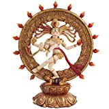 PTC Shiva Nataraja Mythological Indian God Statue Figurine, 9-Inch