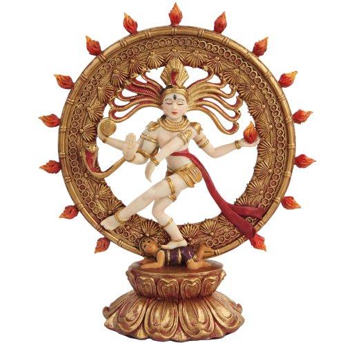 PTC Shiva Nataraja Mythological Indian God Statue Figurine, 9-Inch