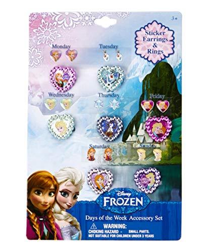 Disney Frozen Jewelry 7 Day Ring & Earring Set -