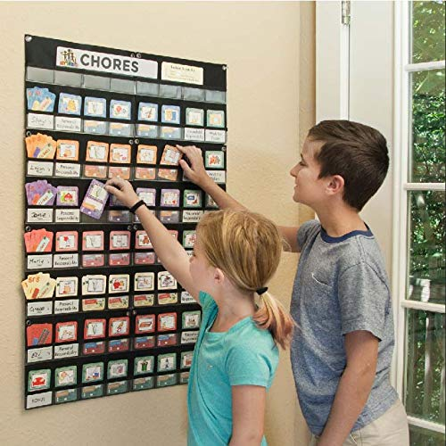 NEATLINGS Chore System - Customize for up to 6 Children   80+ Chores for Toddlers to Teens   Reward Responsibility   Size 36