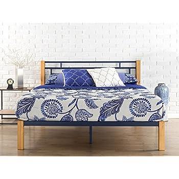 Amazon Com Zinus Tuscan Metal Amp Wood Platform Bed With