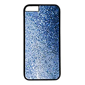 Digital Floral Style Back Case Cover for iPhone 6 Plus Black Plastic PC Skin Shell for iPhone 6 Plus with Bling Bling