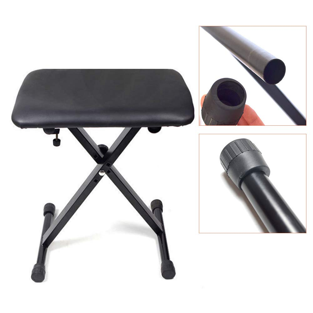 RONSHIN Portable Foldable Adjustable Height Lifting Keyboard Bench Piano Stool Musical instrument by RONSHIN