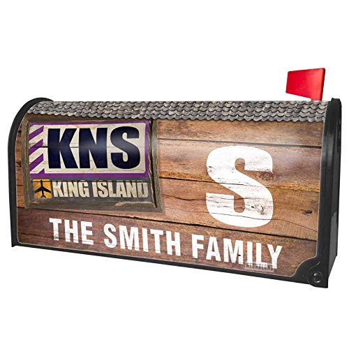 NEONBLOND Custom Mailbox Cover Airportcode KNS King Island -