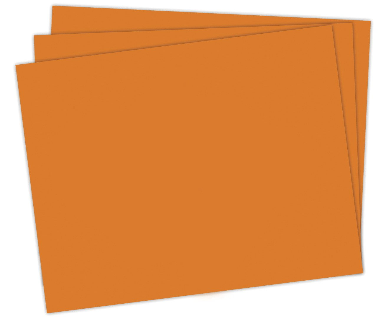 School Smart Railroad Board, 22 x 28 Inches, 6-Ply, Orange, Pack of 25 - 1485747 by School Smart