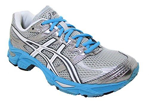 Price comparison product image ASICS Gel Cumulus 13 GS Running Shoe (Little Kid/Big Kid),White/Grey/Silver,6 M US Big Kid