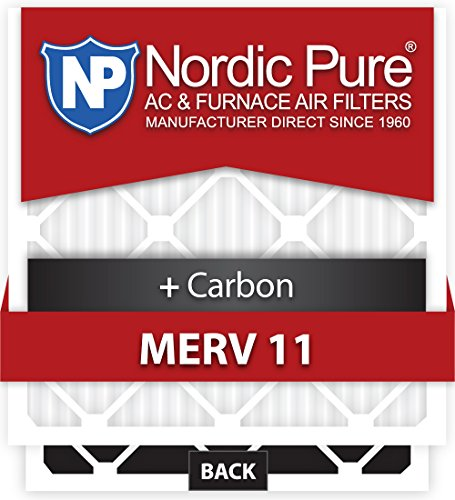 Nordic Pure 15x20x1M11+C-6 MERV 11 Plus Carbon AC Furnace Air Filters, Qty 6