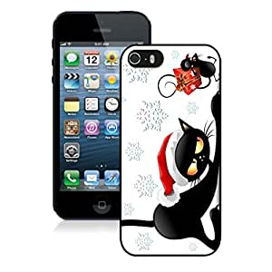 Best Buy Design Christmas Black Cat With Mouse Black Phone Case For Iphone 5s,Iphone 5 TPU Case,Apple Iphone 5s