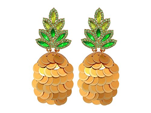 Kate Spade New York Women's By The Pool Pineapple Statement Studs Earrings Multi One Size