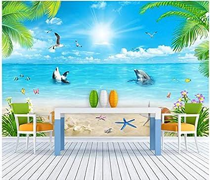 3d Wallpaper Mural 3d Hd Hawaiian Sunshine Vacation Beach Background