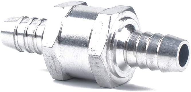 Set de 6mm 1//4 de aleaci/ón de Aluminio de Combustible no Retorno v/álvula de retenci/ón unidireccional de Gasolina Diesel w 10mm Clip de la Primavera NAYUKY 3pcs