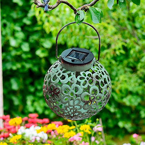 Roaming Light Solar Hanging Lanterns, Retro Hanging Solar Lantern with Handle, 4color, Outdoor Use