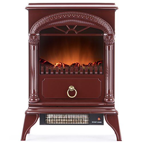 ventless gas heater red flame - 4