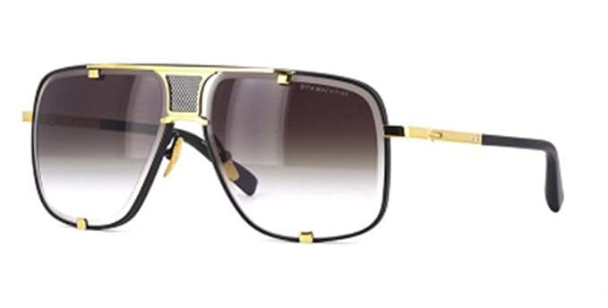 fd4982ee09af Image Unavailable. Image not available for. Colour: Dita MACH-FIVE MATTE  BLACK YELLOW GOLD/DARK GREY SHADED men Sunglasses
