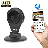 Indoor Wireless Security IP Camera - HD720p Home WiFi Remote Video Monitor w/Motion Detection and Night Vision - Network Surveillance, Voice Mic Audio for Mobile, Windows & Mac - Pyle PIPCAMHD22BK