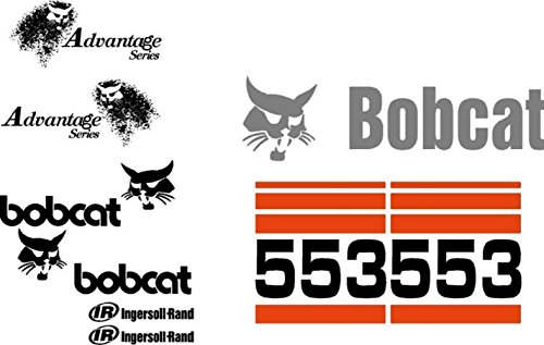 Bobcat 553 Excavator Whole Machine Decal Set Advantage Series & Ingersoll - Rand