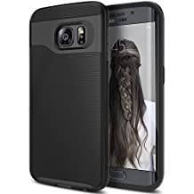 Galaxy S6 Case, Caseology [Wavelength Series] Slim Dual Layer Protection Textured Grip Protective Cover [Black] for Samsung Galaxy S6